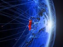 Il Portogallo su terra digitale blu blu immagini stock