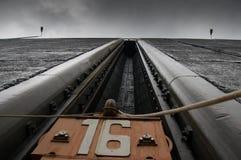 Il portone del ferro della serratura Fotografie Stock Libere da Diritti