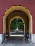 Il portone del parco di Zhongshan Immagini Stock