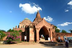 Il portone dell'entrata Tempio di Sulamani Bagan myanmar fotografia stock