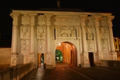 Il portone della S Tommaso a Treviso, Italia Fotografia Stock
