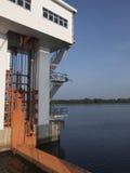 Il portone di acqua in Tailandia del sud fotografie stock libere da diritti