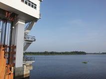 Il portone di acqua in Tailandia del sud fotografia stock
