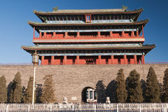 Il portone di Zhengyangmen. Beinjing. La Cina Fotografie Stock Libere da Diritti