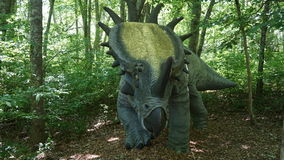 Il posto del dinosauro ad Art Village della natura in Montville, Connecticut Immagini Stock Libere da Diritti