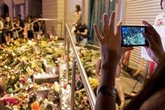 Il posto della gente fiorisce all'ambasciata olandese in Kyiv Fotografia Stock