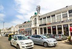 Il posto di Connaught è uno di più grandi centri commerciali in India Immagine Stock Libera da Diritti