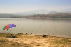 Il posto di pesca di estate Fotografia Stock