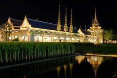 Il posto funereo del re Rama9 della Tailandia Fotografia Stock Libera da Diritti