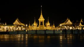 Il posto funereo del re Rama9 della Tailandia Fotografie Stock