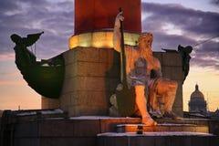 Il potere di Dio alla luce del tramonto e dell'elettricità Fotografia Stock Libera da Diritti
