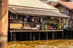 Il povero di Bangkok alloggia Immagini Stock