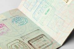 Il pozzo ha viaggiato passaporto Immagine Stock Libera da Diritti