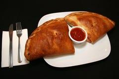 Il pranzo alla pizzeria locale guarda così saporito Immagini Stock Libere da Diritti