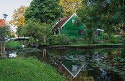 Il precedente paesino di pescatori Haaldersbroek Fotografie Stock