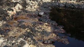 Il precedente rifiuto tossico dello scarico, natura di effetti da suolo contaminato ed acqua video d archivio