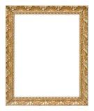 Il premio di lusso della struttura d'annata antica dell'oro ha isolato il BAC bianco Fotografia Stock Libera da Diritti