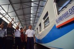 Il prima del viaggio di treno espresso di Ambarawa Fotografia Stock Libera da Diritti