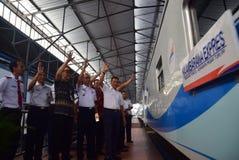 Il prima del viaggio di treno espresso di Ambarawa Immagine Stock Libera da Diritti