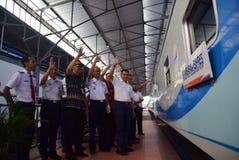 Il prima del viaggio di treno espresso di Ambarawa Fotografia Stock