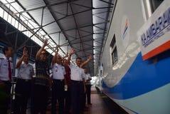 Il prima del viaggio di treno espresso di Ambarawa Immagine Stock