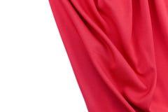 Il primo piano allinea in tessuto di seta rosso per fondo e progettazione Immagini Stock