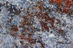 Il primo piano colorato differente dei minerali Immagini Stock