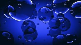 Il primo piano 3d della bolla di sapone rende il fondo dell'illustrazione fotografia stock