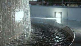 Il primo piano della fontana archivi video