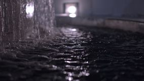 Il primo piano della fontana stock footage