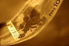 Il primo piano di 10 euro, II immagini stock