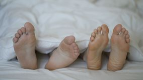 Il primo piano di giovani belle e coppie amorose gioca e balla i loro piedi video d archivio