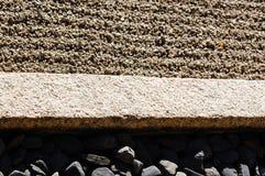 Il primo piano materiale naturale del giardino di rocce Immagini Stock Libere da Diritti