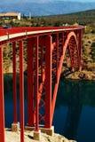 Il primo ponte di Maslenica fotografia stock libera da diritti