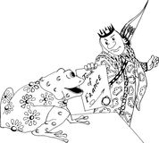 Il principe e la rana Immagini Stock Libere da Diritti