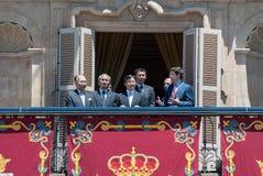 Il principe Naruhito - Salamanca -13-06-2013 del Giappone Immagine Stock Libera da Diritti