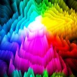 il prisma di progettazione 3d colora il fondo immagine stock