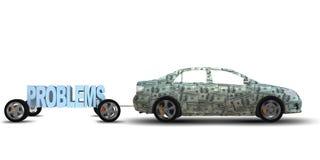 Il problema di business ed il concetto di sfida con l'uomo d'affari - rappresentazione 3d illustrazione di stock