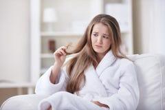 Il problema di capelli fragili Immagini Stock Libere da Diritti