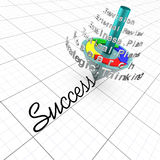 Il processo iterativo di pianificazione di affari è il tasto a Immagini Stock
