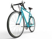 Il profesional blu luminoso mette in mostra la bici Fotografia Stock