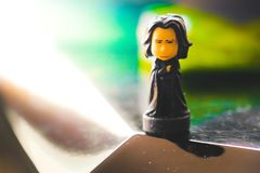 Il professor Severus Snape delle action figure di saga di Harry Potter Fotografia Stock