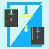 Il profilo della lampadina Fotografia Stock Libera da Diritti