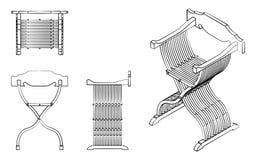 Il profilo romano del sedile gradisce le pennellate Fotografia Stock Libera da Diritti
