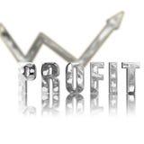 Il profitto del platino in su & aumenta Fotografia Stock