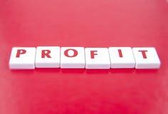 Il profitto di parola Fotografie Stock Libere da Diritti