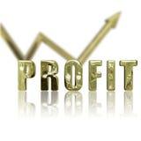 Il profitto in su & aumenta Fotografia Stock Libera da Diritti