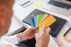 Il progettista con il modello di colori immagine stock libera da diritti