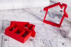 Il progetto architettonico, alloggia il concetto in costruzione Fotografie Stock Libere da Diritti