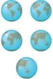 Il programma del globo della terra Immagini Stock Libere da Diritti